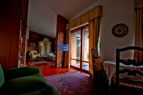The interior of the villa