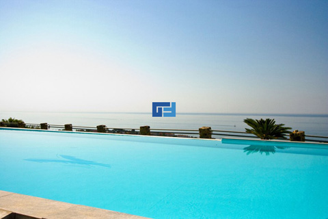 Rectangular spacious outdoor pool
